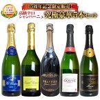 【60セット限定】【送料無料】超特別企画!うきうき厳選!15周年記念限定販売!高級辛口シャンパーニュ究極豪華5本セットUkiuki Set of 15th Anniversary Special Champagne set