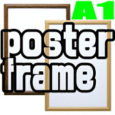 Vポスター額 A1 ナチュラル/ブラウン 木製ポスターフレーム