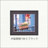 フジカラー 木製額縁 YM-3 半切 ブラック