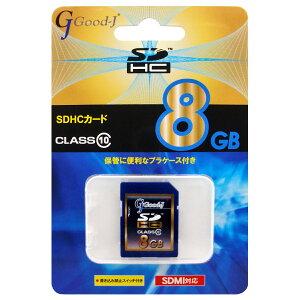 SDHCメモリーカード8GBCLASS10G-SDHC8-C10Good-J