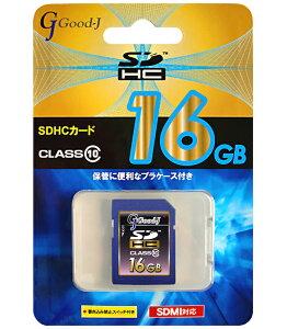 SDHCメモリーカード16GBCLASS10G-SDHC16-C10Good-J