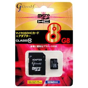 microSDHCメモリーカード8GBCLASS10G-MICROHC8-C10Good-J