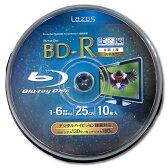 【メール便送料無料】Lazos BD-R LR-10P 1-6倍速 10枚スピンドル