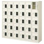 6列5段 30人用 窓付き下駄箱