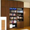 本棚 扉付き 書類収納 天井つっぱり壁面本棚 TX 壁面本棚 扉付書棚...