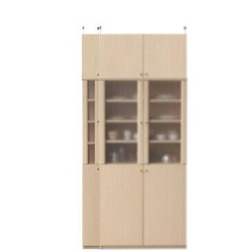 半透明扉隙間食器棚高さ226〜235cm幅15〜24cm奥行19cm(高さ=ラック高さ178cm+突っ張り棚高さ41cm+伸縮突っ張り金具)半透明片開き扉半透明扉隙間食器棚