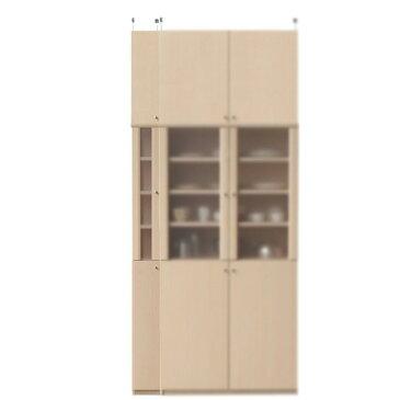 浅型カップボード高さ241〜250cm幅15〜24cm奥行19cm(高さ=ラック高さ178cm+突っ張り棚高さ56cm+伸縮突っ張り金具)半透明片開き扉浅型カップボード