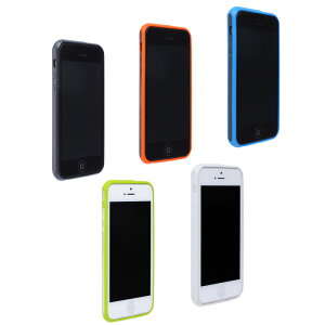 iPhone5 (アイフォン5)用 ハードケース STONE ポリカーボネート TPU MB-IP5SNBK MB-IP5SNBL B-IP5SNOR MB-IP5SNWH MB-IP5SNGR アイフォン スマホケース iphone 5 アイホン 05P06may13