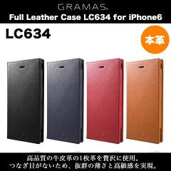 iPhone 6 本革 レザー ケース GRAMAS Full Leather Case LC634 for iPhone6 アイフォン6 アイホ...