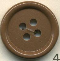 トップカラーポリボタン(ツヤ) 4つ穴 コーヒー