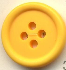 トップカラーポリボタン(マット) 4つ穴 サフランイエロー