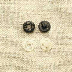 プラスチックホック スナップボタン 10mm 【5セット入り】