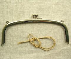 手作りの手芸アイテムに♪金属 がま口 口金 角丸型 丸カン付き 21cm幅 【3色展開】