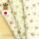 『デザインワークス 国産30スケアー オールドロココ ドット小花〜祝福〜』 110cm巾×10cm単位 日本製 生地/布