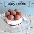 チョコレートのジェラートアイスケーキ誕生日