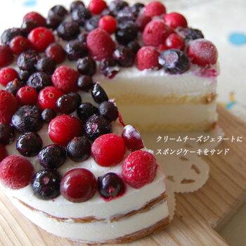 べリーべリージェラートケーキカット写真