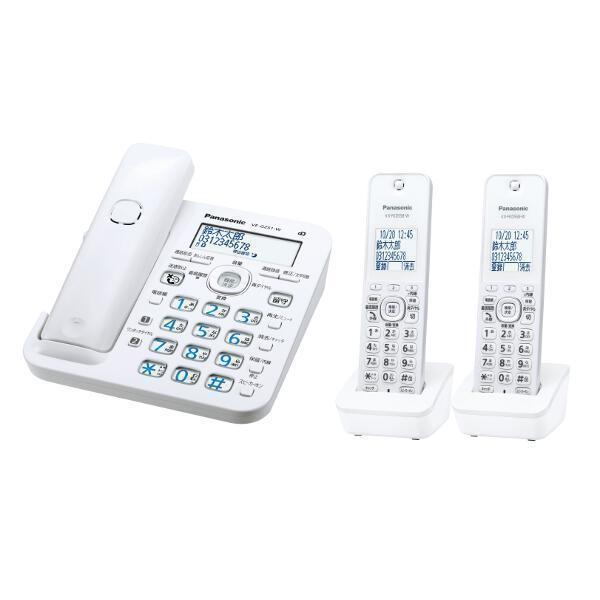 電話機, 家庭用電話機 Panasonic RURURU VE-GZ51DW-W