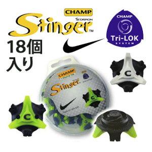 【メール便可能(パッケージ出し)】【スパイク鋲】チャンプ スティンガー NIKE(T−LOK) 18個入り (S-97) CHAMP STINGER 【2sp_120829_green】