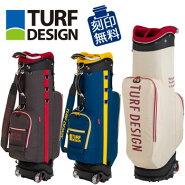 朝日ゴルフTURFDESIGNターフデザインローラー付きキャディバッグTDCB-187347インチ対応【ラッキーシール対応】