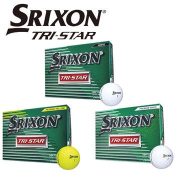 ダンロップ スリクソン SRIXON TRI-STAR ボール 1ダース(12球) トライスター DUNLOP ゴルフボール 【ラッキーシール対応】