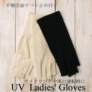 吸水速乾カノコ編みUVカット手袋(すべり止め付き)ショート丈指切りタイプ