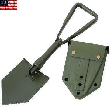 新品 米軍タイプ フォールディングショベル カバー付 米軍使用の携帯折り畳みショベル 小さく3つに折り畳みができる スグレモノを忠実に再現《WIP03》【So】