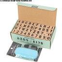 U.S.ステンシルスタンプセット インク付き 42PIECE ミリタリー文字を気軽に楽しめる ステンシルスタンプセット スプレーもマスキングテープも必要なしです。【WIP03】