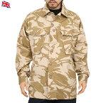 【クーポン利用で20%OFF】実物 新品 イギリス軍TROPICAL COMBAT ジャケット デザートDPMカモ 《WIP03》上品でシャープな迷彩パターンで 他国とは一味違ったデザイン 薄手な生地で左肩にイギリス国旗のワッペン付属