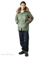 【smtb-MS】【送料無料】【WIP03】ALPHAアルファタイトN-3BフライトジャケットR.グレー【20094-276】最高の防寒着N-3Bのシルエットをタイトにリデザイン機能的なポケット類やボリュームはそのまま