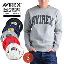 AVIREX アビレックス デイリーウェア 6153513 ロゴ スウェットシャツ ミリタリースウェット メンズ トップス プリント トレーナー クルーネック ロゴプリントクーポンご利用不可