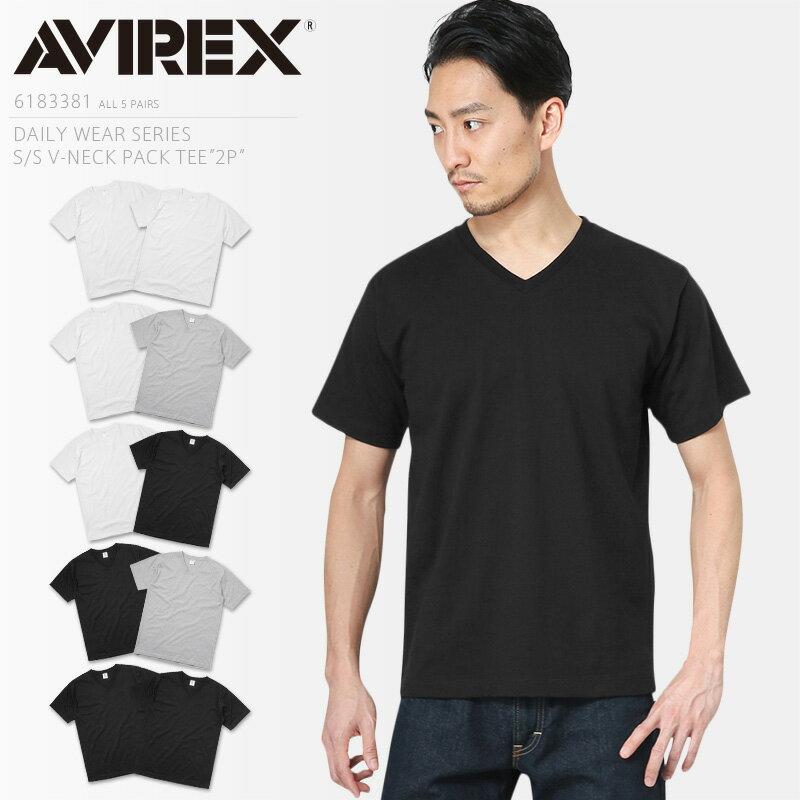 トップス, Tシャツ・カットソー 10AVIREX 6183381 V T 2PIECE