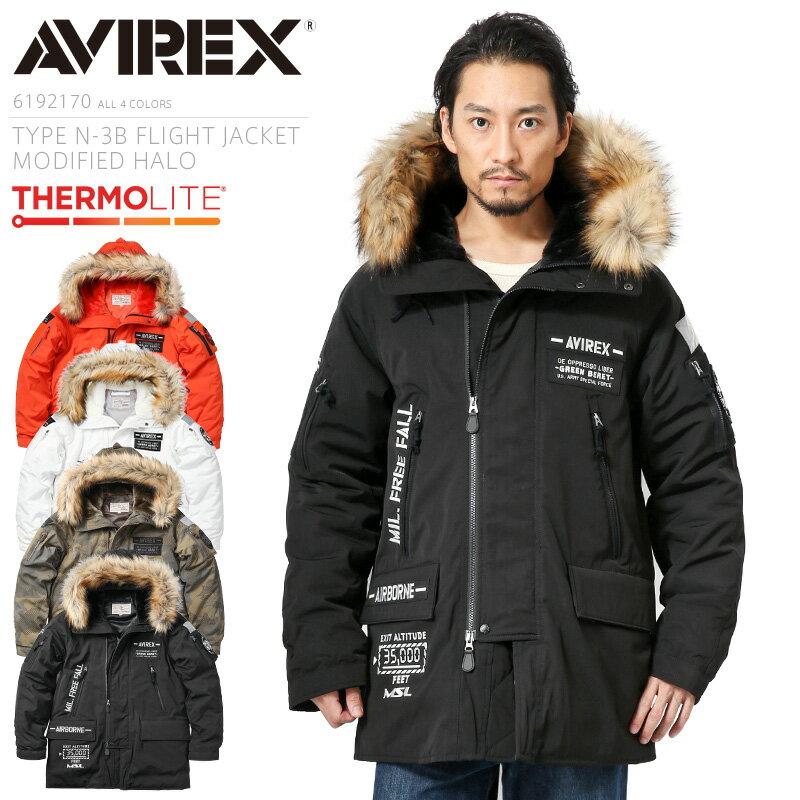 メンズファッション, コート・ジャケット 30OFFAVIREX 6192170 TYPE N-3B MODIFIED HALOHigh Altitude Low Opening