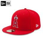 【メーカー取次】 NEW ERA ニューエラ 59FIFTY MLB On-Field ロサンゼルス・エンゼルス・オブ・アナハイム レッド 11449402 キャップ