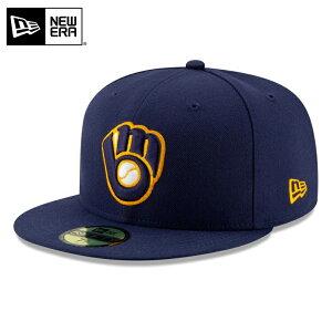 【店内20%OFFセール開催中】【メーカー取次】 NEW ERA ニューエラ 59FIFTY MLB On-Field ミルウォーキー・ブルワーズ ネイビー 12026661 キャップ