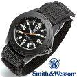 【クーポン対象外】 Smith & Wesson スミス&ウェッソン SOLDIER WATCH 腕時計 NYLON STRAP BLACK SWW-12T-N