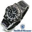 【クーポン対象外】 Smith & Wesson スミス&ウェッソン SWISS TRITIUM 357 SERIES COMMANDER WATCH 腕時計 BLACK SWW-357-BSS