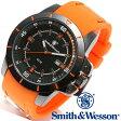 【クーポン対象外】 Smith & Wesson スミス&ウェッソン TROOPER WATCH 腕時計 ORANGE/BLACK SWW-397-OR