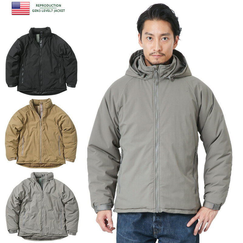 【15%OFFクーポン対象!】新品 米軍 PCU GEN3 LEVEL7 ジャケット《WIP03》レベル7 アウター 中綿 防寒 ミリタリー 大きいサイズ メンズ