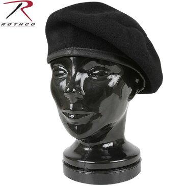 ROTHCO ロスコ INSPECTION READY WOOL ベレー帽 ブラック MIL-SPECを忠実に再現されたベレー帽 フラッシュ(部隊識別章/徽章)が装着可能 《WIP03》【So】