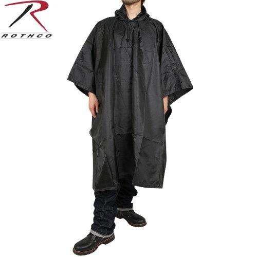 ROTHCO ロスコ G.I. PLUS RIP-STOP レインポンチョ ブラック 4958 雨の日もお洒落に楽しくすごして...