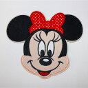 Disneyミニーマウス特大ワッペン/タテ135mmxヨコ150mm 送料無料