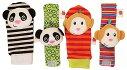 赤ちゃん用ガラガラ・ソックス+リストバンド/おさるさん+パンダ