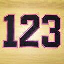 【プロ野球 阪神タイガースグッズ】背番号ワッペン(ピンク)の商品画像