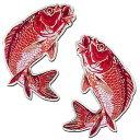 【プロ野球 広島カープグッズ】鯉ワッペン(中・赤)の商品画像