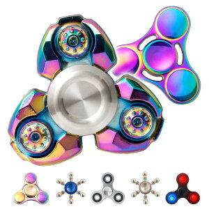 ハンドスピナー,handspinner,合金,メタル,クール,かっこいい,レインボー,虹色,玉虫色,人気,話題,指スピナー,ストレス解消