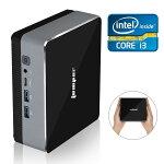送料無料EZboxi3ミニPC【メモリ8GB】【128GBSSD】IntelCorei3プロセッサ【軽量静音型】デスクトップパソコン高効率パワースクトップPCWin10搭載/WiFi対応無線LAN/Bluetooth/便携PC