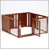 ペットサークル F 60XL メッシュ B [木製 / 室内犬用 / 拡張可能](サークル・ケージ・ゲージ)