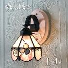 ブラケットライト【Laula・ローラ】フラワーLED対応壁掛け照明ステンドグラスランプ