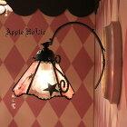 ◆ララLala◆ステンドグラスブラケットライト 壁掛け照明ランプLED対応スウィーツお茶会