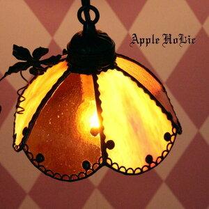 ◆ ジャック・オー・ランタン クロシェット Jack-o'-Lantern Clochette ◆ ステンドグラス ペンダントライト | 天井照明 ランプ LED対応 スウィーツ ハロウィン